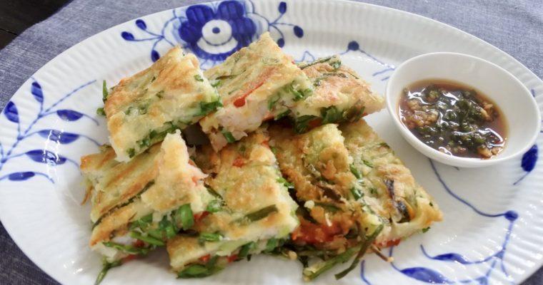Seafood Korean Pancake (Haemul Jeon)